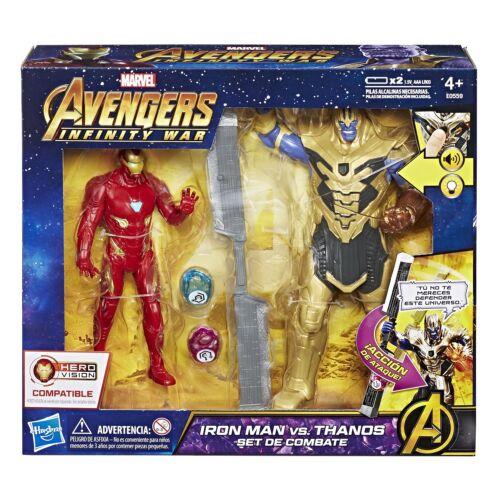 Marvel Los Vengadores Infinito Guerra Iron Man Vs Thanos conjunto de batalla