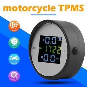 Motorrad-TPMS-Reifendruckkontrollsystem-Zeitanzeige-2-externer-Sensor