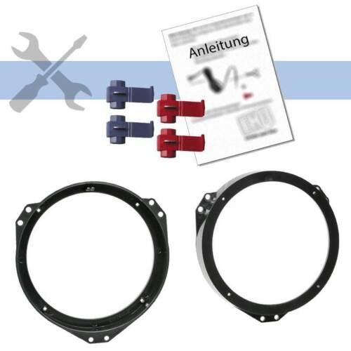 Einbauset 16,5cm Lautsprecher Adapter Ringe Kit für Opel Zafira A T98 1999-2005