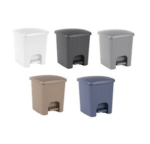 5 Litre Square Pedal Bin Mini 5l Plastic Small Bathroom Kitchen Waste Rubbish Ebay