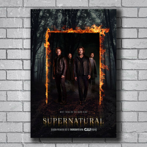 N-558 Supernatural 12 Season USA TV Show Series Hot Wall Poster Art 20x30 24x36