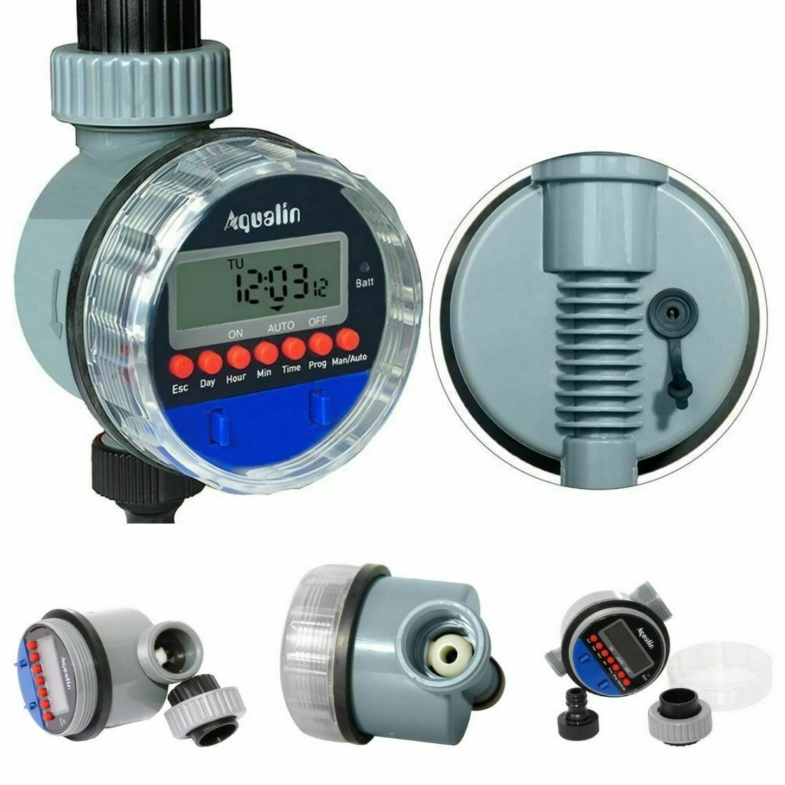 Automatic Electronic Ball Valve Water Timer Home Waterproof Garden Watering Time
