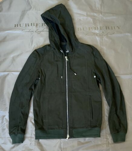 BALMAIN HOODED SUEDE LEATHER JACKET Green Size M $