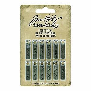 Tim-Holtz-idea-ology-Story-Sticks-Flat-Metal-Strips-12pc