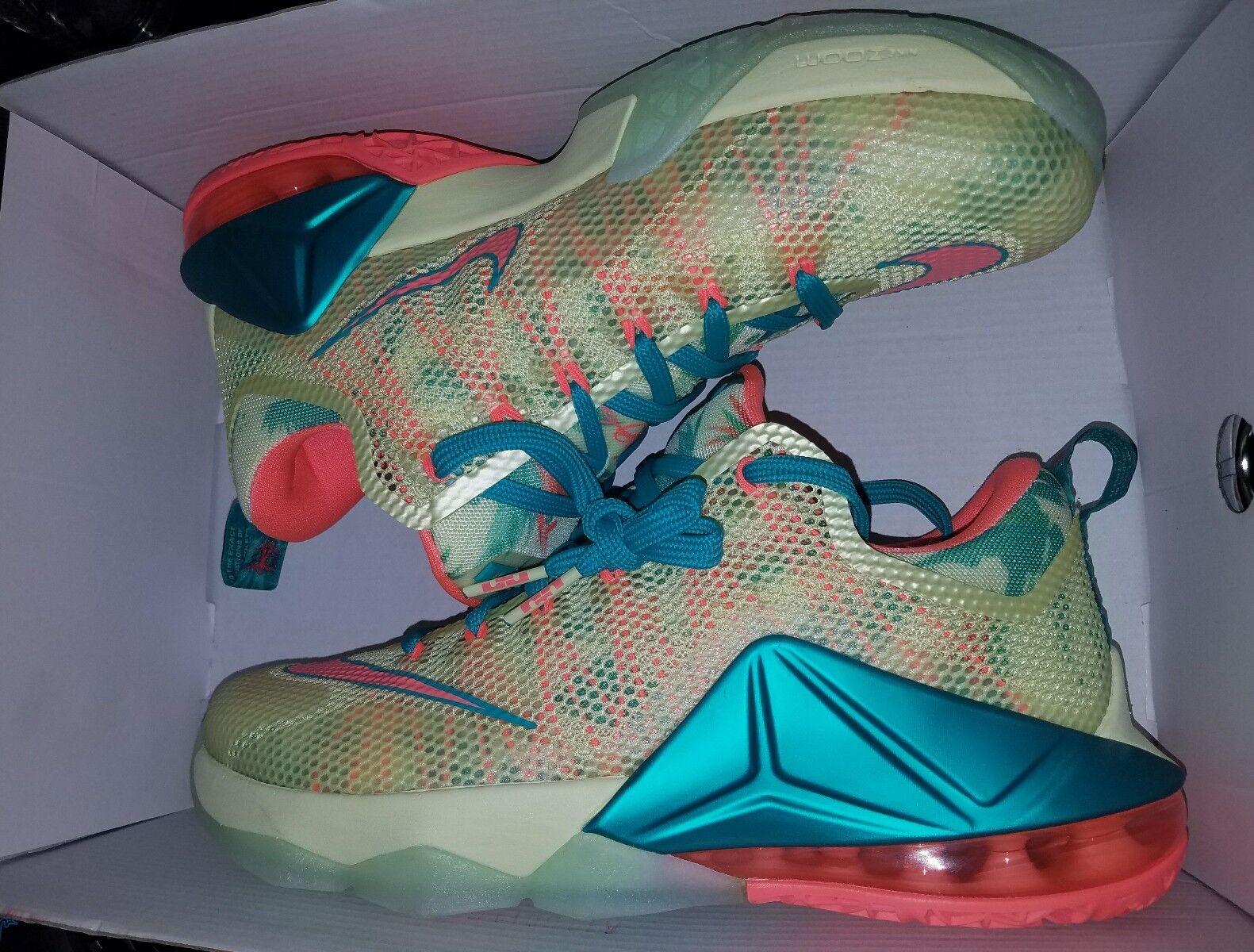 Nike lebron 12 low prm lebronald palmer south beach pre heat asg mvp 3 rings