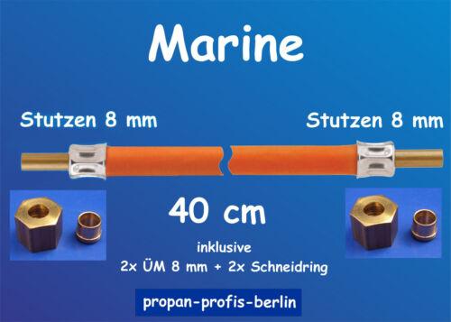 Boot Messing//Edelstahl Marine-Propangasschlauch 40 cm Propanschlauch