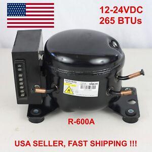 12v 24v Dc Refrigeration Compressor Fridge Freezer Mobile Solar Qdzy43g R600a Ebay