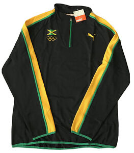 bicicleta impactante Casi muerto  Puma Para Hombres Jamaica Pro Elite calentamiento Half Zip olímpico 2012  Run Top Usain Bolt L | eBay
