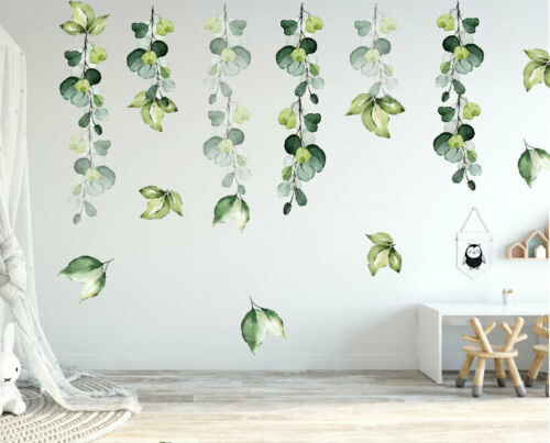 Foliage Branch Leaves Botanic Wall Stickers Nursery Decal Kids Decor Art Mural