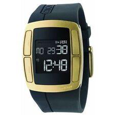 New DKNY Touch Sensor Digital Chronograph Black Rubber Men Watch 40x50mm NY1386