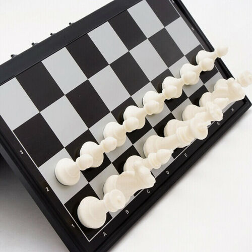 Magnetic folding chess board portable set with pieces sport camping travel H7Q1