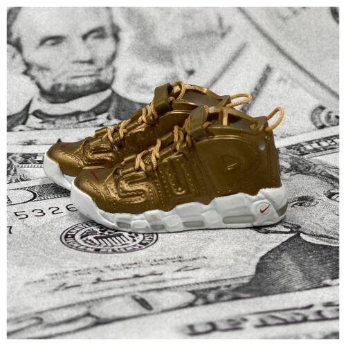 Mini 3d Sneaker AIR UPTEMPO Supreme or 1 pair + sneakerbox
