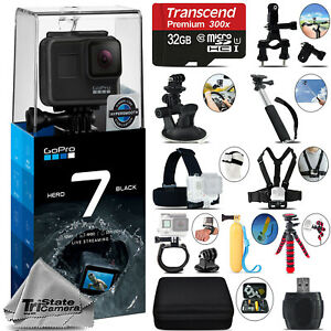 Details about GoPro Hero 7 Black 4K60 Ultra HD, 12MP, Wi-Fi Waterproof  Action Camera -32GB Kit