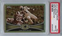 2012 Topps Chrome 20 Cam Newton Sepia Refractor Psa 10 Gem Mint 99 Panthers