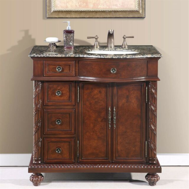 36 Inch Single Bathroom Vanity Off Center Right Sink Stone Top Cabinet 0 0213bb For Sale Online Ebay
