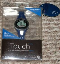 OREGON SCIENTIFIC GAIAM TOUCH STRAPLESS HEART RATE MONITOR - BLACK BLUE - NEW
