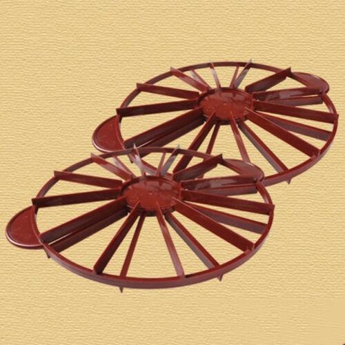 Gâteau Diviseur Tranche Tarte Gâteau 10//12 pièces part égale Marqueur diviseurs Rouge Foncé $ M