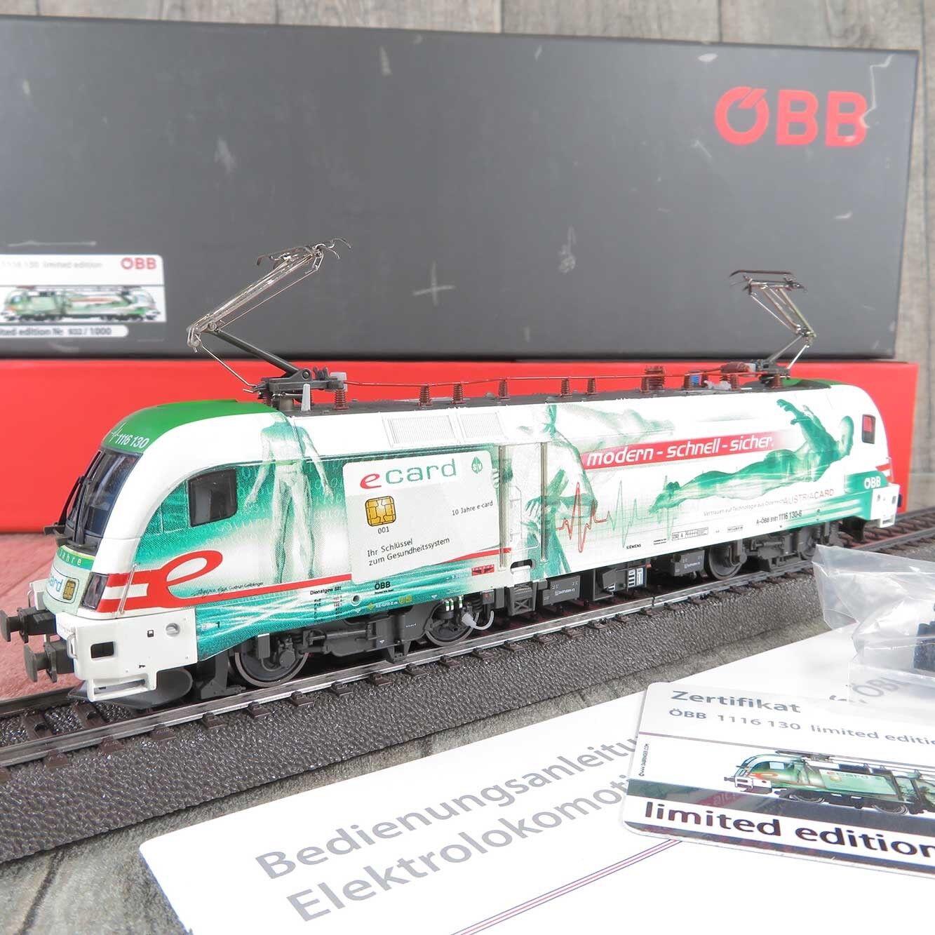 RailAd für AC - H0 - E-Lok - ÖBB e-Card - Digital - 1116 130-6 - OVP  W17851