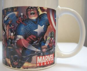 Merchandise & Memorabilia Mugs & Cups Marvel Heroes Coffee Mug 2006 Sherwood Comic Captain America Superheroes