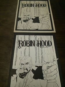 ROBIN-HOOD-PORTFOLIO-1978-PLATE-SET-BY-HOWARD-CHAYKIN-284-OUT-OF-1000-SIGNED