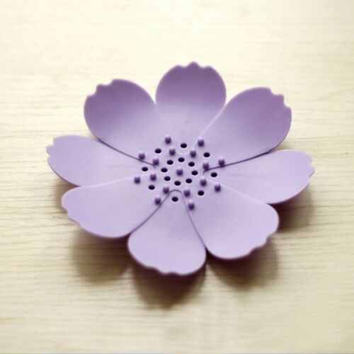 Accessories Water Draining Holder Tray 3D Flower-shaped Soap Dish Bathroom