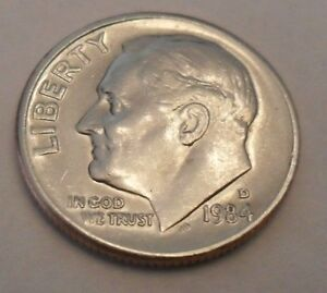 1984 D Roosevelt Dime • BU From US Mint • #101