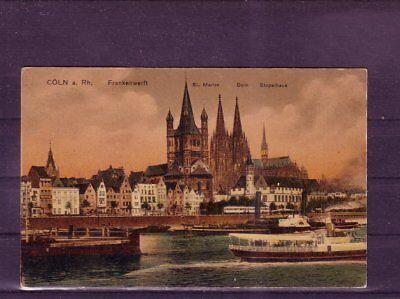 europa:11501 Elegant Und Anmutig Diplomatisch Nicht Frankierte Ansichtskarte Köln Frankenwerft