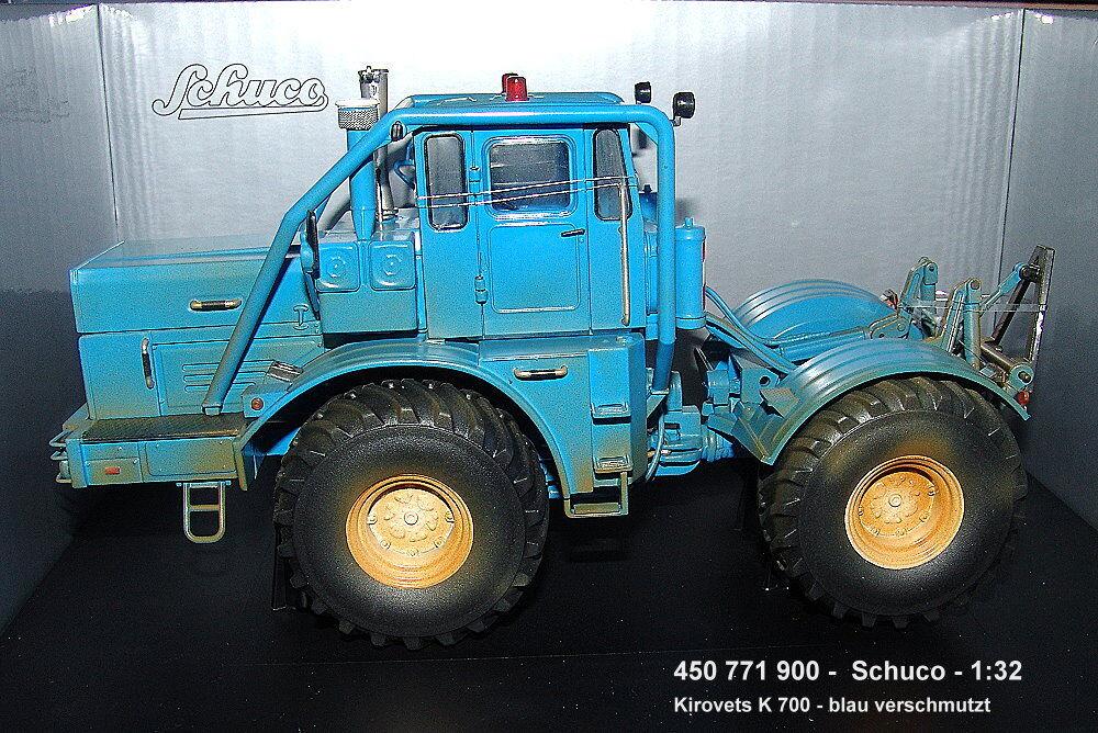Schuco 450771900 - kirovets K700 -blue- SUCIA - 1  3 2