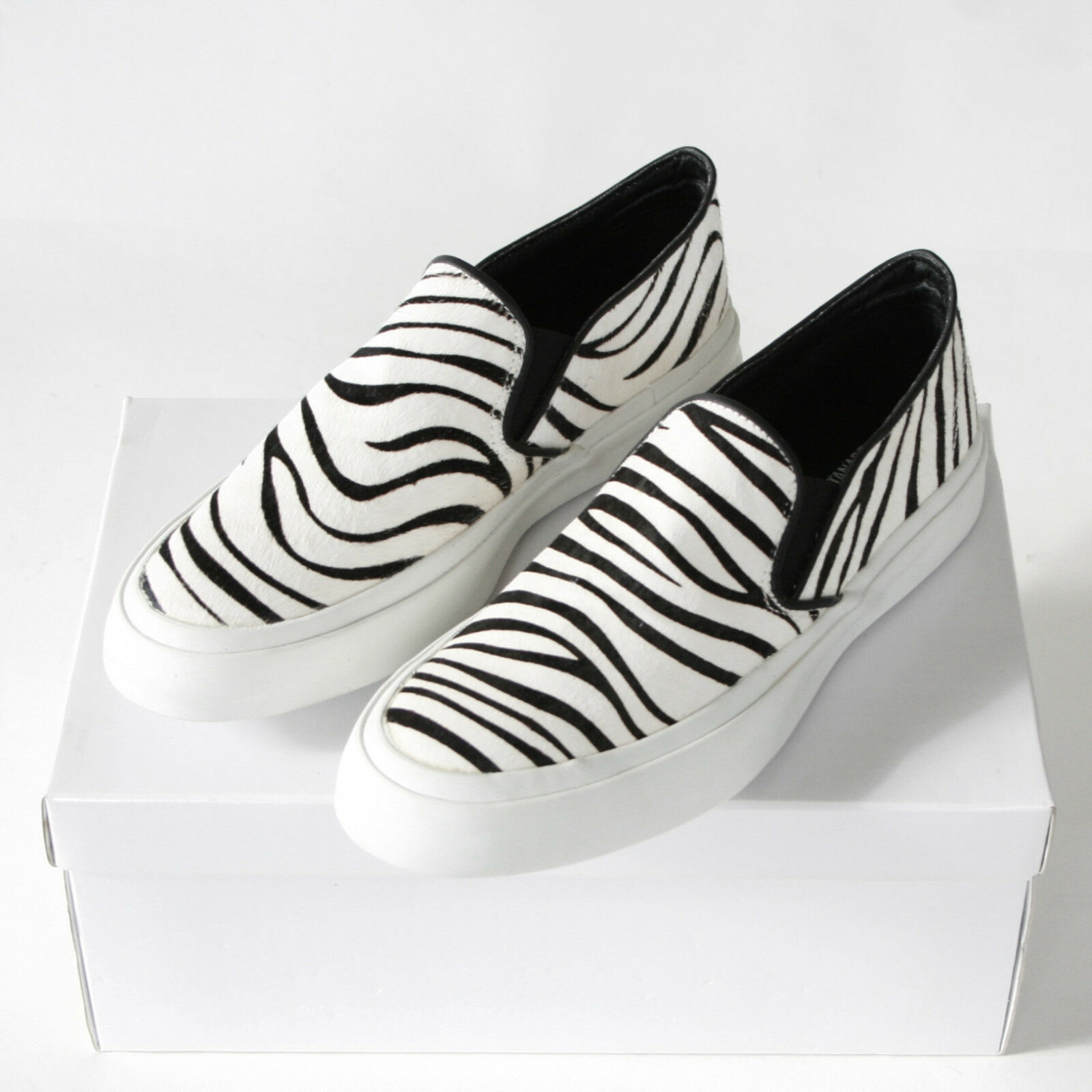 JUNYA WATANABE Comme des Garcons calf hair cowhide zebra slip on shoes M NEW