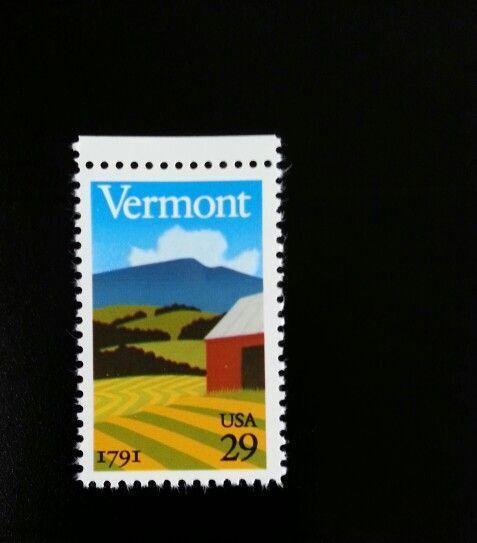 1991 29c Vermont Statehood, 200th Anniversary Scott 253