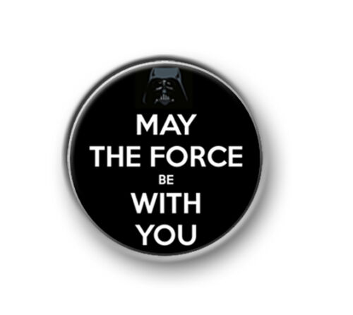 """MAY THE FORCE BE WITH YOU 1"""" Star Wars Jedi 25mm pin button badge"""