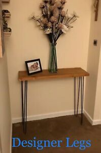 2x-Hairpin-Console-Table-Legs-28-amp-34-034-10-amp-12mm-bar-2-legs-Made-in-England-UK