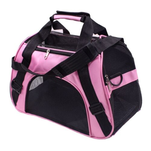 Pet Soft Sided Mesh Carrier Travel Tote Bag for Small Dogs and Cats