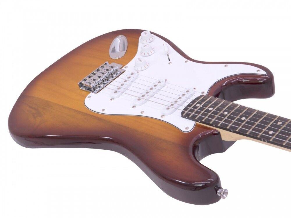 Dimavery ST-203 Guitarra Guitarra Guitarra Eléctrica LH, Sunburst 1805d3