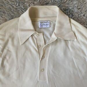Shirtcraft-Vintage-60s-grosse-Ban-LON-Kurzarm-Shirt-Off-White-Creme-L