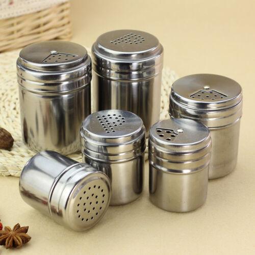 BBQ Stainless Steel Cruet Salt Pepper Seasoning Condiment Spice Shaker Bottle