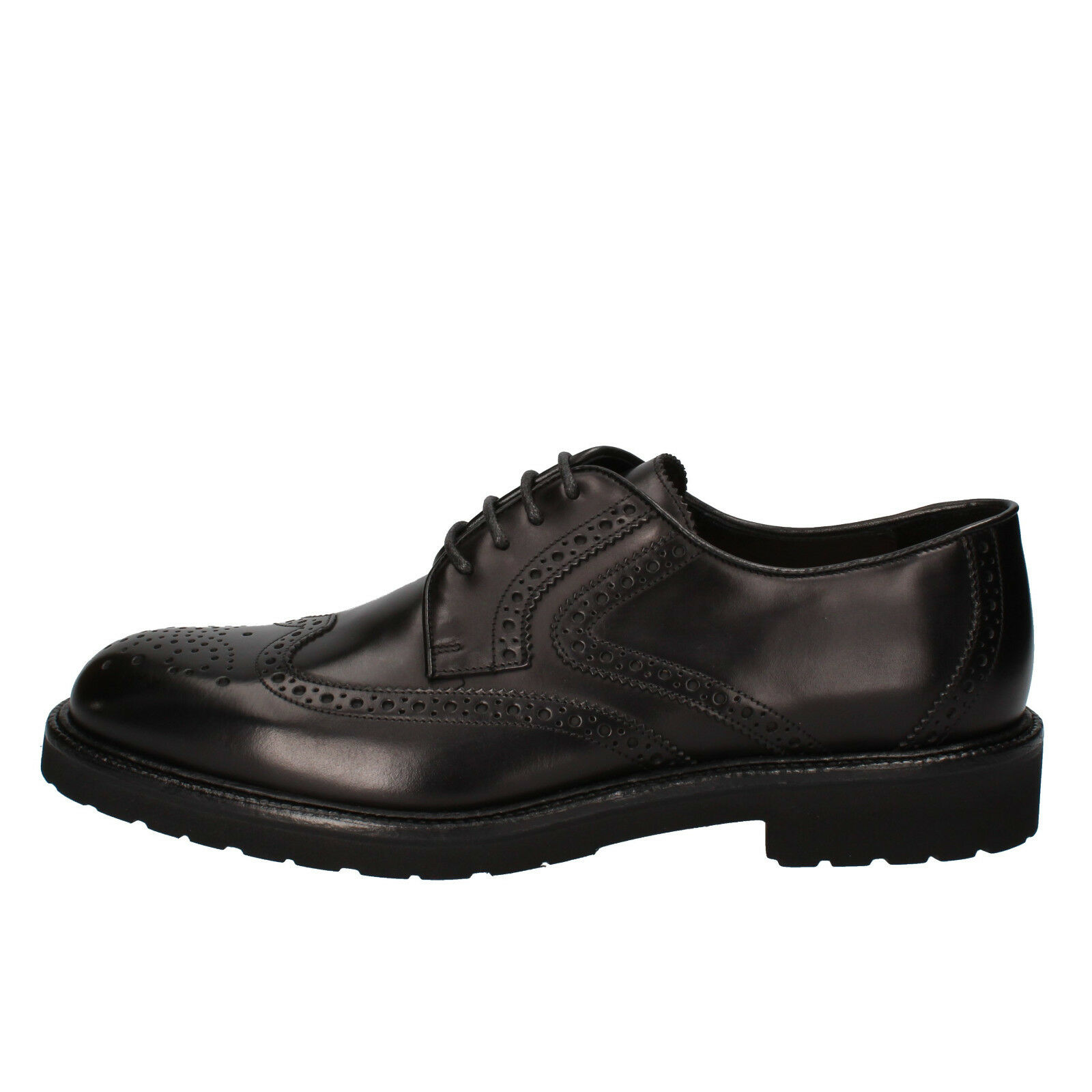 Men's shoes ROSSI 12 (EU 45) elegant black leather AD239-C