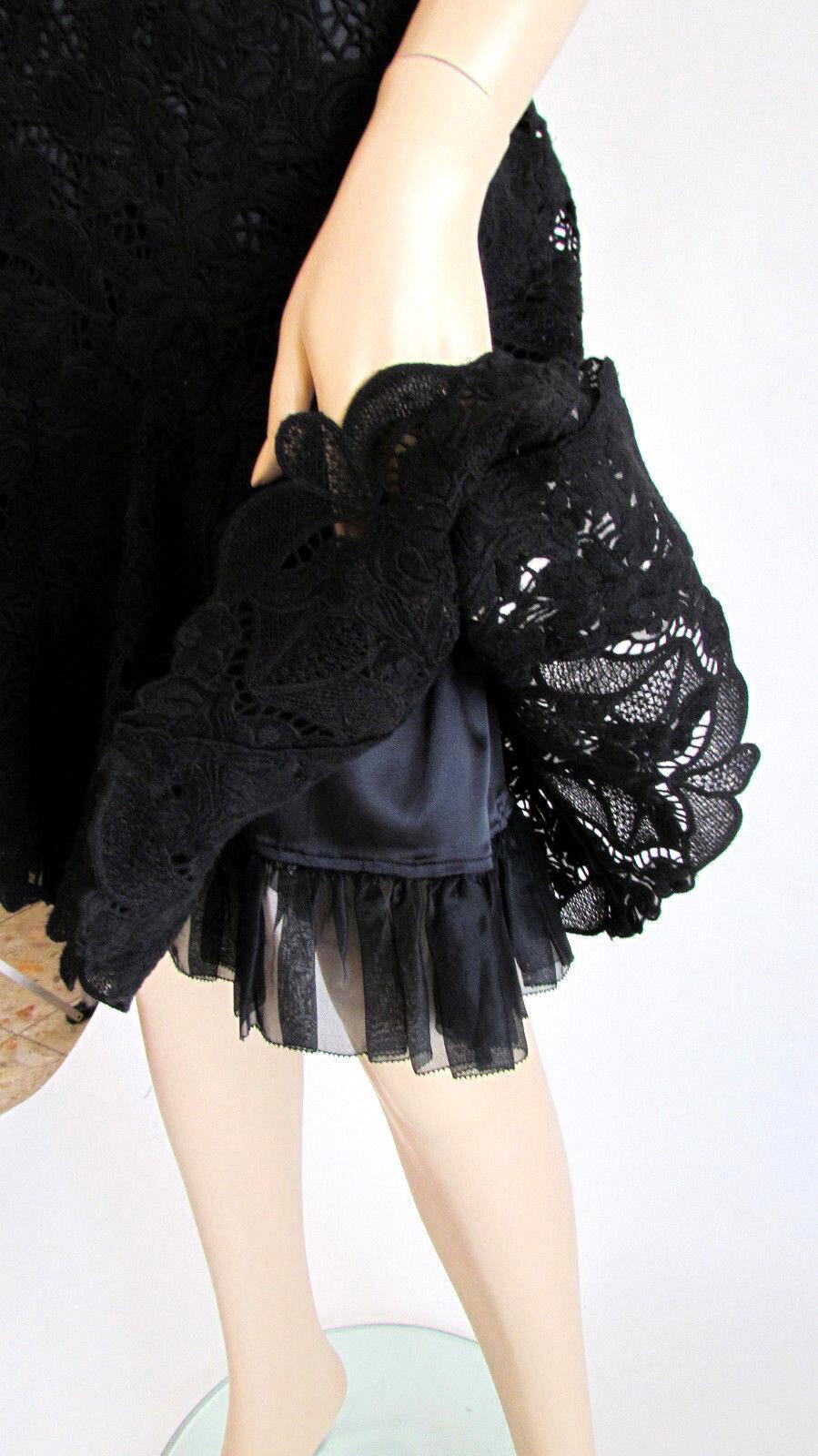 Mujer Faldas Diseño Elie Tahari Rodilla  Negro Encaje Seda Trompeta Falda 8  Hay más marcas de productos de alta calidad.