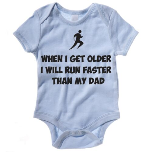 Funny Runner Baby Grow-Courir plus vite que mon père-Running Father/'s Day