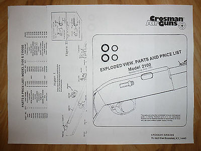 Guide Parts List O-Ring Seal Kits With Exploded View Crosman 1400 Two 2