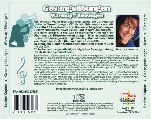 GESANGÜBUNGEN - WARMUP / EINSINGEN CD