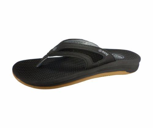 Reef Para Hombre Flex Sandalia Negro Plata Mediano (d, m) Tamaños