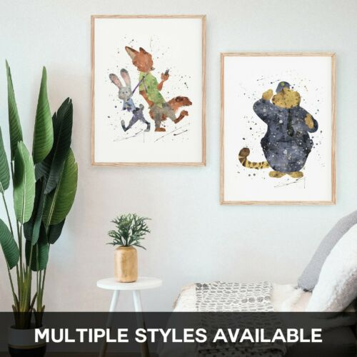 Zootropilis Judy Hops Nick Wilde Clawhause ZOO A2 A3 A4 Premium Prints