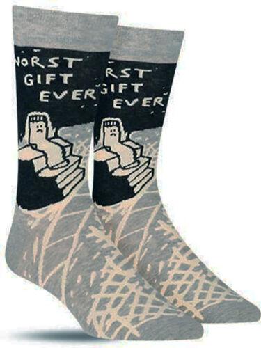 Regalo peggiore mai-MEN /'S Morbido Cotone Crew Socks da Blue Q Divertente Regalo 6-11