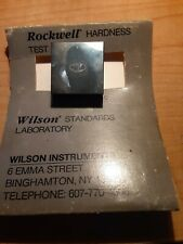 Wilson Rockwell Hardness Tester Block A Scale