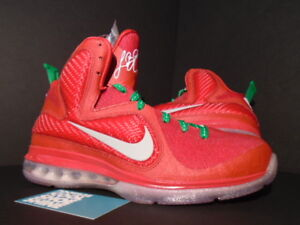 sports shoes b90dd 06dda Image is loading Nike-Air-Max-LEBRON-IX-9-CHRISTMAS-SPORT-