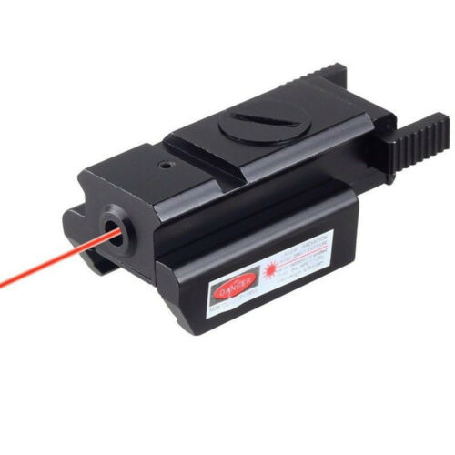 Tactical Red Dot Laser Sight Low Profile Picatinny Weaver Rail For Pistol Rifle