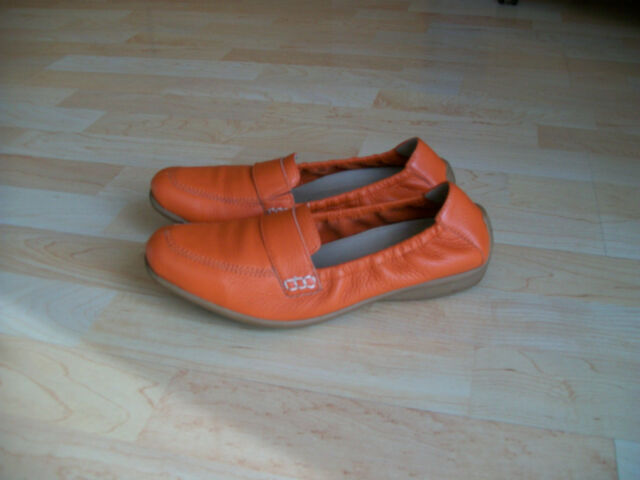 CAPRICE Damen Halbschuhe Slipper-Schuhe  Ballerina Gr.6,5- 40 Leder orange, TOP!