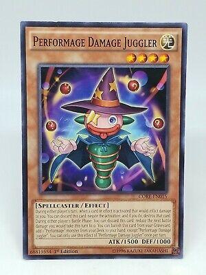 1st Edition Near Mint YuGiOh Performage Damage Juggler Common CORE-EN015