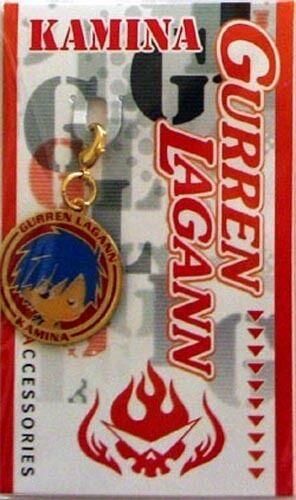 Tengen Toppa Gurren Lagann Kamina Round Fastener Metal Charm Anime Manga MINT